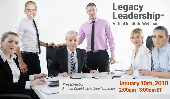Legacy Leadership® Virtual Institute (LLVI) Webinar