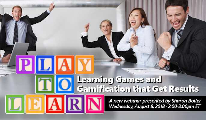 Play to Learn: Learning Games and Gamification that Get Results