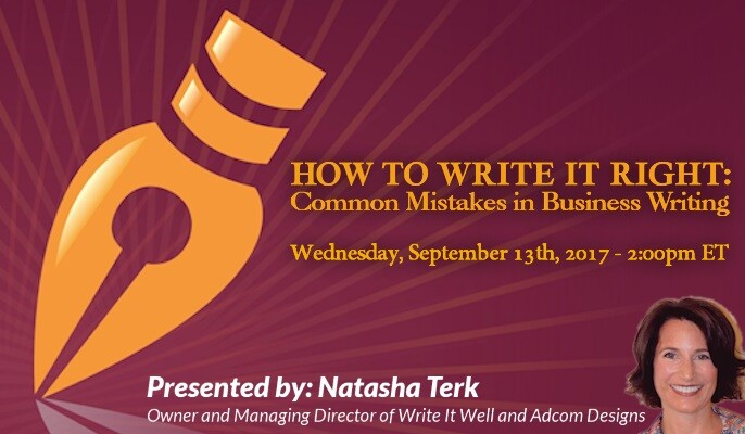 How To Write It Right: Common Mistakes in Business Writing