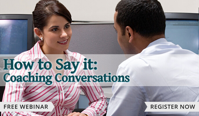 How to Say it: Coaching Conversations