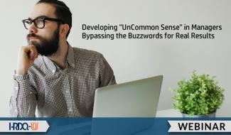 HRDQ-U Webinar | Developing UnCommon Sense in Managers