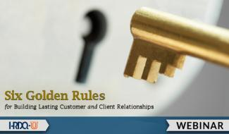 HRDQ-U Webinar | Six Golden Rules for Building Lasting Relationships